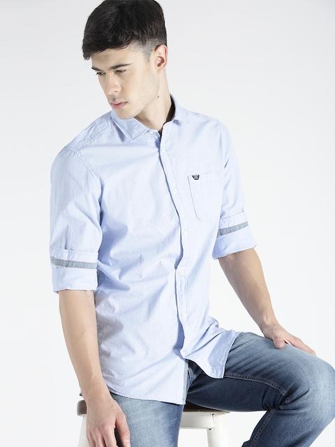 s.Oliver Men Blue Slim Fit Casual Shirt