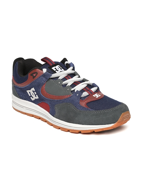 DC Women Navy Colourblocked Suede Skate Shoes