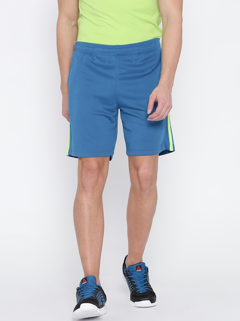 Reebok Men Blue COR POL Solid Sports Shorts  available at myntra for Rs.629