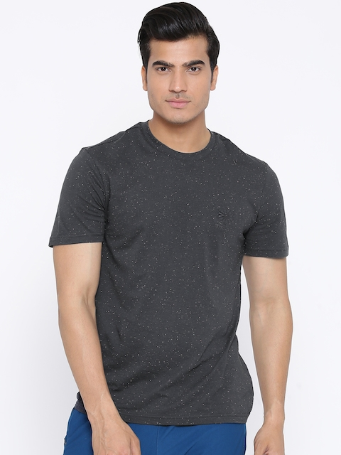 Reebok Classic Men Charcoal Grey F STRCRST NEP Solid Round Neck T-shirt