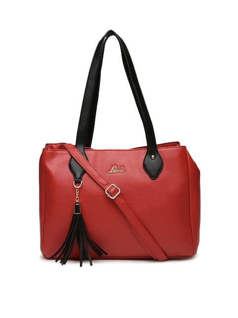 Lavie Red Shoulder Bag with Tassel