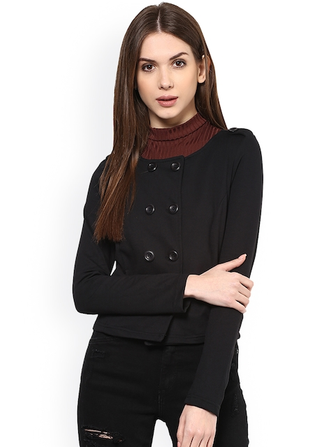 Harpa Black Double-Breasted Tailored Jacket