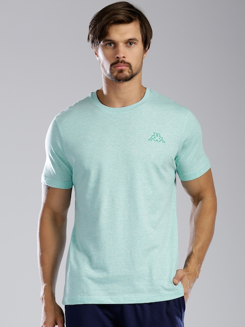 Kappa Men Blue Solid Round Neck T-shirt