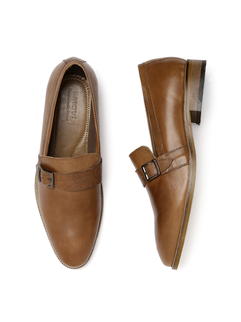 INVICTUS Men Tan Brown Semiformal Shoes
