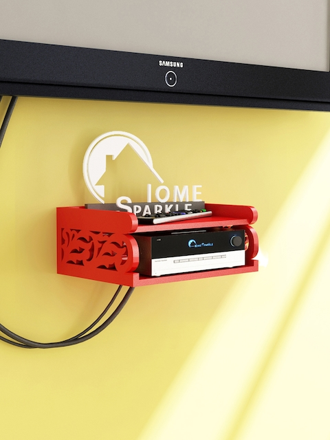 Home Sparkle Red Set Top Box Holder