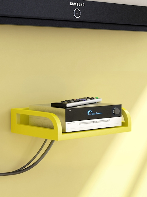 Home Sparkle Yellow Set Top Box Holder