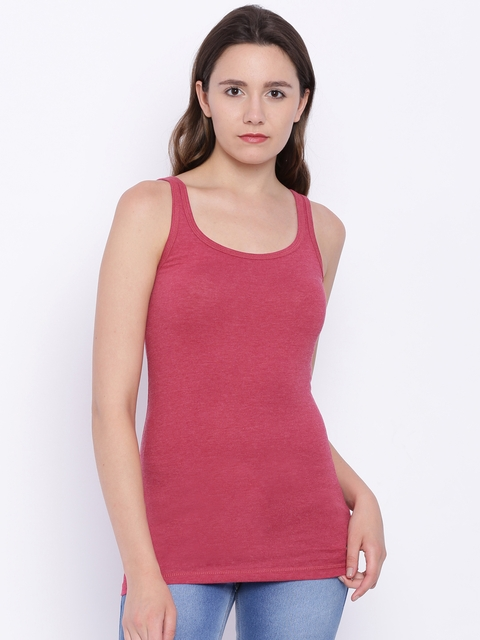 U.S. Polo Assn. Women Women Pink Solid Tank Top