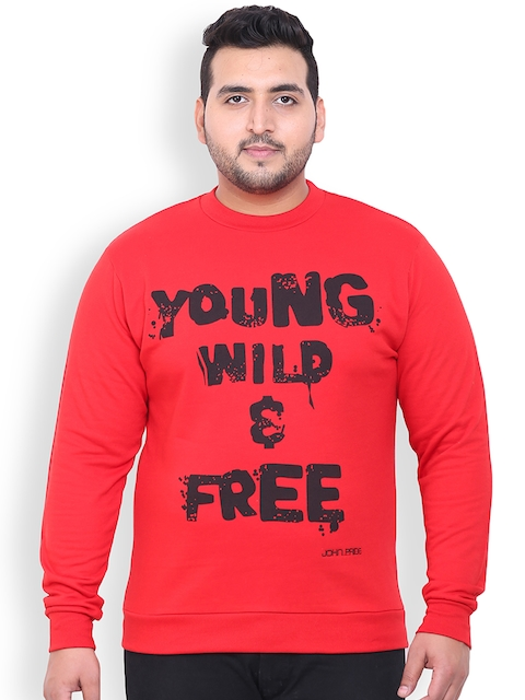John Pride Red Printed Sweatshirt