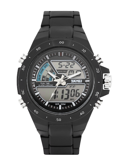Skmei Men Black Analogue & Digital Chronograph Watch 1016-B