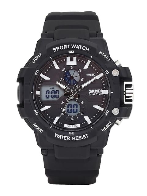 Skmei Men Black Analogue & Digital Chronograph Watch 990-B