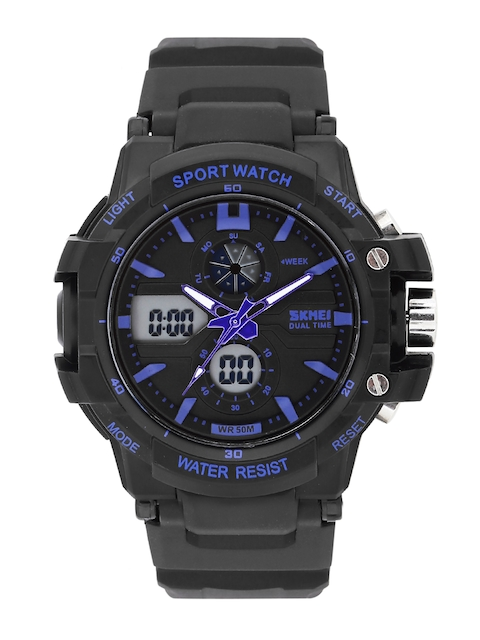 Skmei Men Black Analogue & Digital Chronograph Watch 990-BL