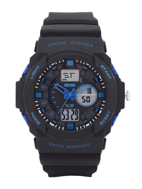 Skmei Men Black Analogue & Digital Chronograph Watch 995-BL