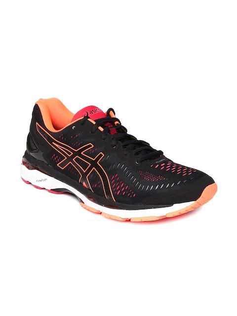 ASICS Men Black Gel-Kayano 23 Running Shoes