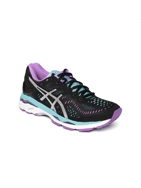 ASICS Women Black Gel-Kayano 23 Running Shoes