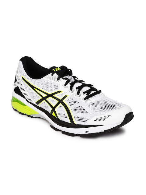 ASICS Men White GT-1000 5 Running Shoes