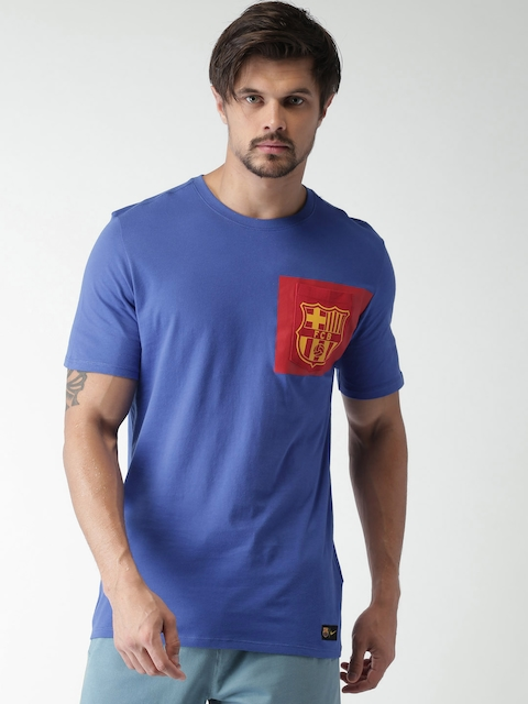Nike Men Blue FCB CREST T-shirt