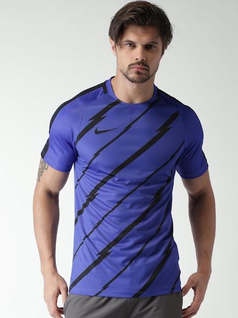Nike Blue Printed AS Dry SQD SS GX T-shirt