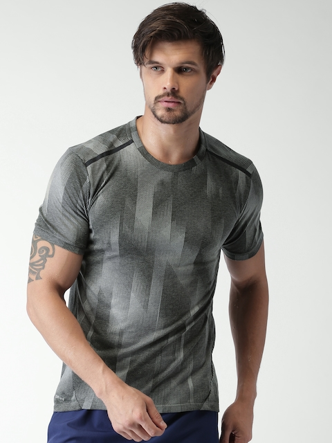 Nike Men Grey & Black Printed AS M NK BRTHE SS TLWND CL T-shirt