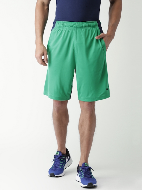 Nike Men Green AS Dry Fly 9IN Shorts  available at myntra for Rs.568