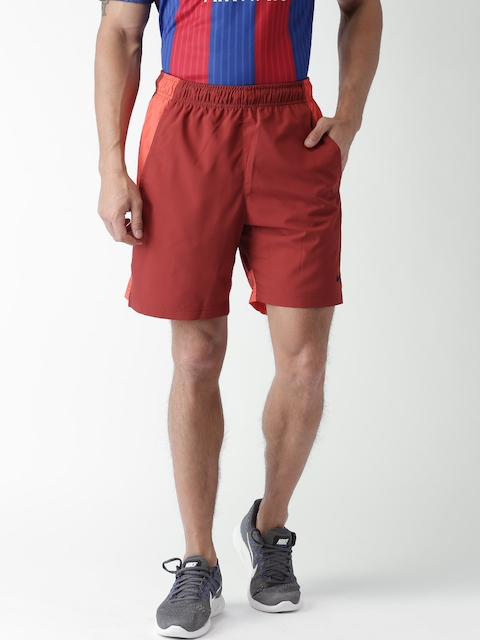 Nike Men Maroon AS FLX Solid Shorts  available at myntra for Rs.508