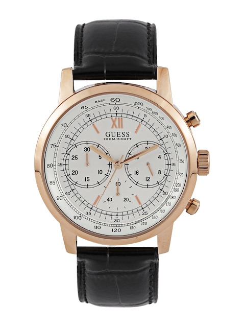 GUESS Men Off-White Chronograph Watch W0916G2
