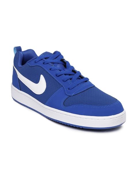 Nike Men Blue Court Borough Leather Sneakers