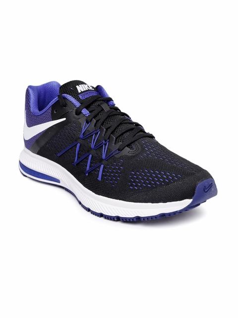 50 Off Nike Men Black Zoon Winflo 3 Running Shoes
