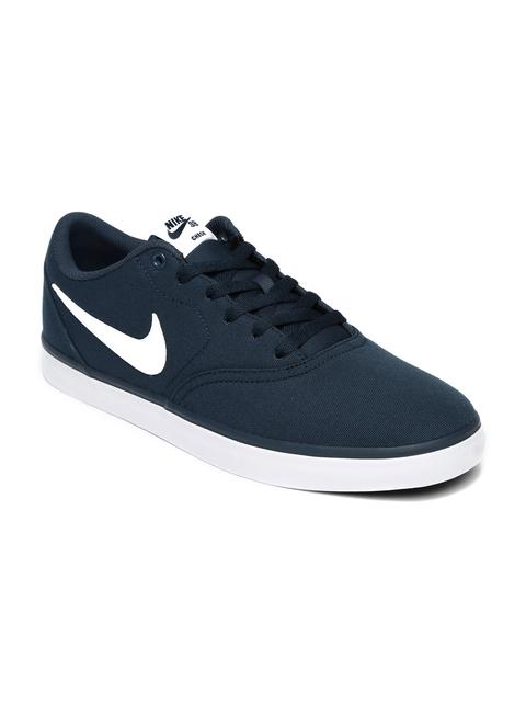 Nike Men Navy Blue SB CHECK SOLAR CNVS Sneakers