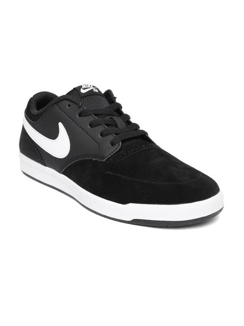 Nike Men Black Fokus Suede Skateboarding Shoes