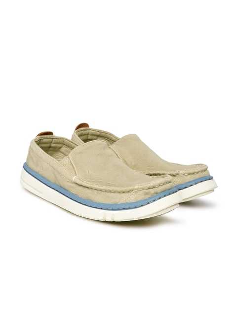 Timberland Women Beige Solid Regular Slip-On Sneakers