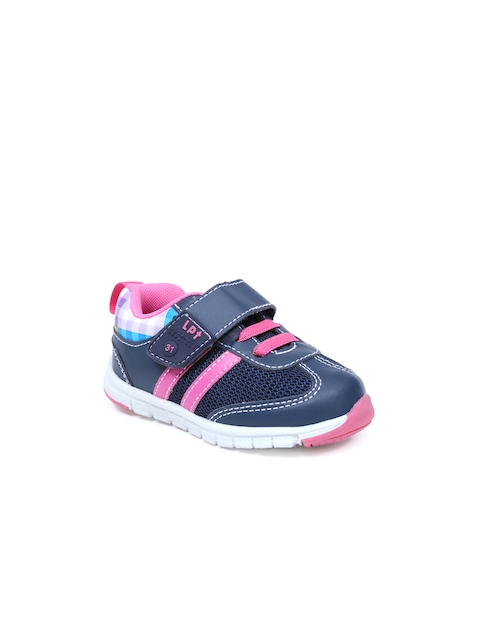 Lilliput Girls Navy Textured Casual Shoes
