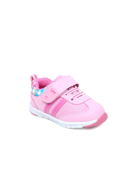 Lilliput Girls Pink Textured Casual Shoes