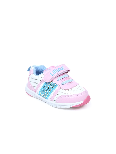 Lilliput Girls Pink & White Colourblocked Casual Shoes