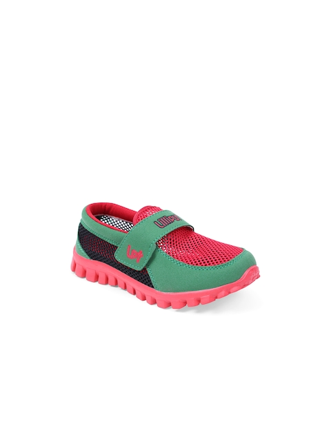 Lilliput Boys Red & Green Colourblocked Regular Sneakers