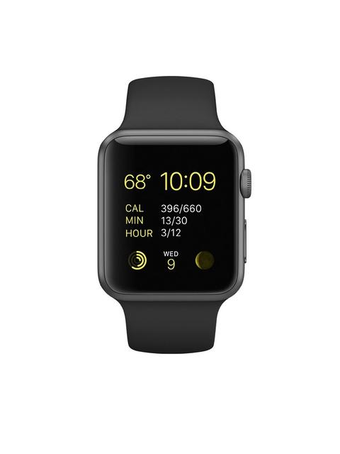 Apple Series 1 Unisex Black 42 mm Smart Watch