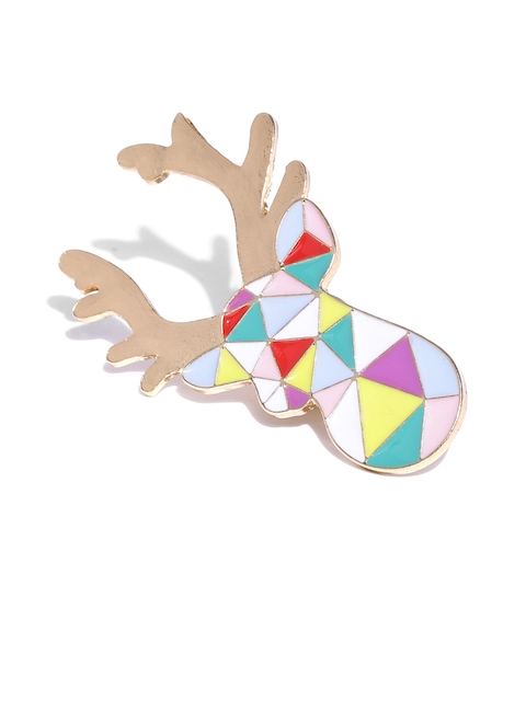 The Bro Code Multicoloured Reindeer-Shaped Lapel Pin