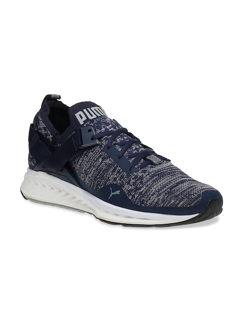 Puma Men Navy Running Shoes IGNITE evoKNIT Lo