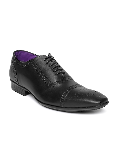 Knotty Derby Men Black Leather Brogues