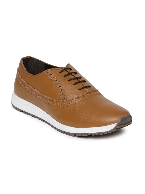 Knotty Derby Men Tan Brown Textured Brogues
