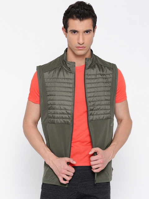 Adidas Olive Green ULT RGY Slim Fit Sleeveless Jacket