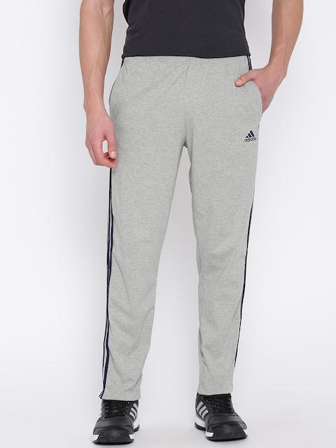 ADIDAS Grey Melange ESS SJ 3S Training Track Pants
