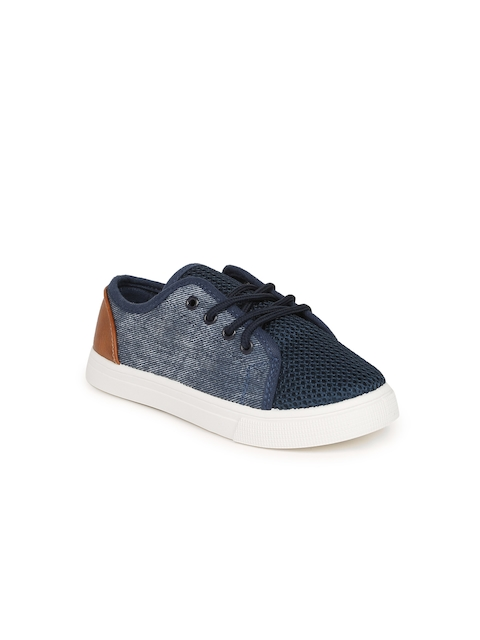 Fame Forever by Lifestyle Boys Navy Woven Sneakers