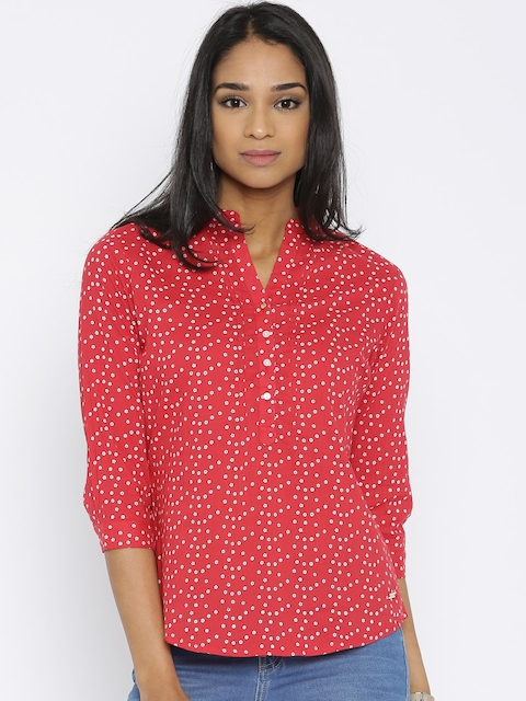 Park Avenue Red Printed Top