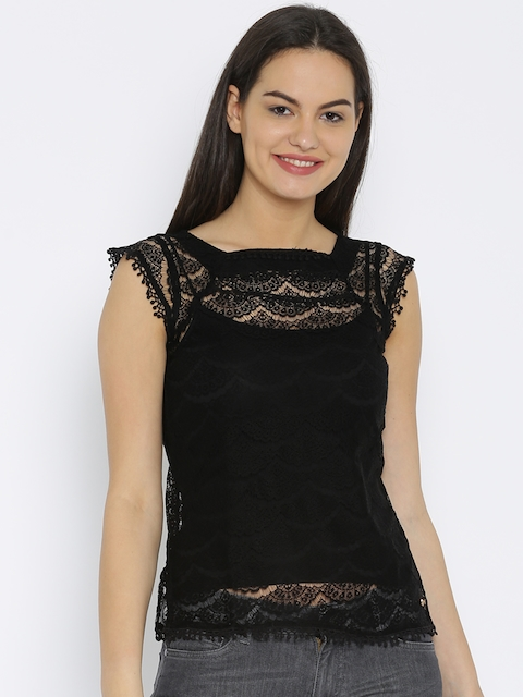 Park Avenue Black Lace Top