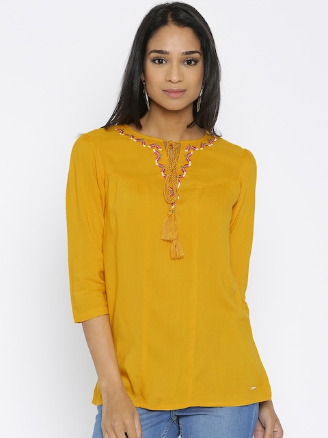 Park Avenue Mustard Yellow Top
