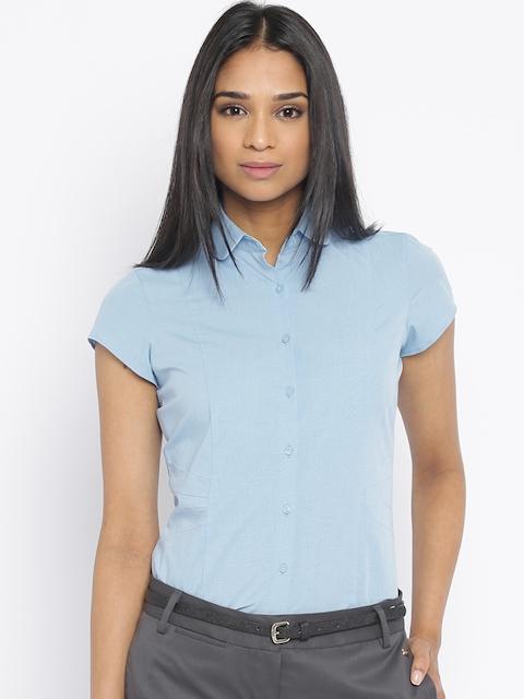 Park Avenue Women Blue Formal Shirt