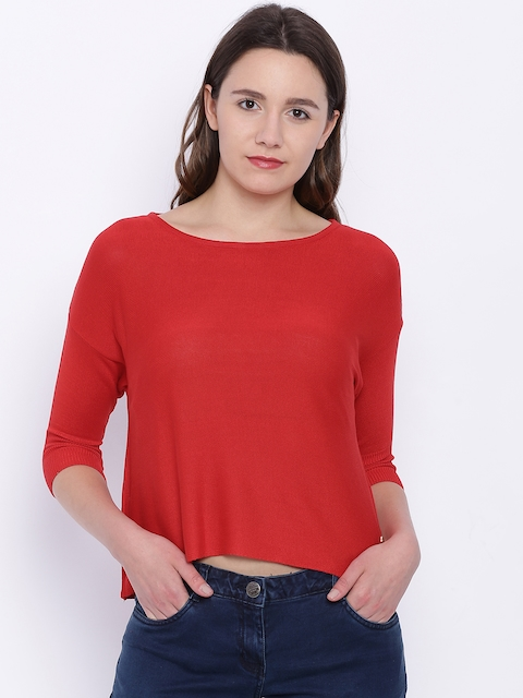 Park Avenue Red Solid Top