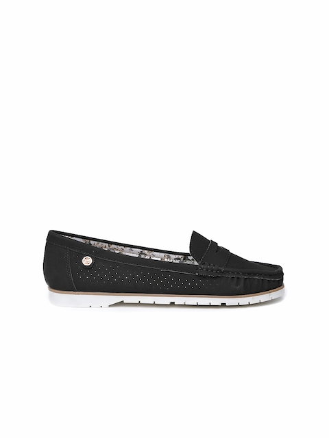 Carlton London Women Black Solid Loafers