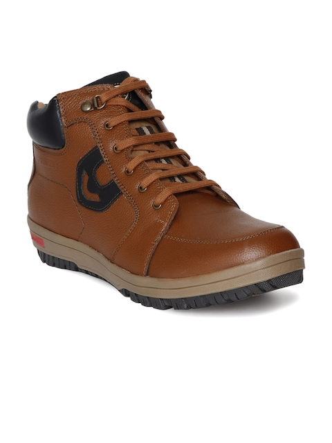 Red Chief Men Brown Flat Boots