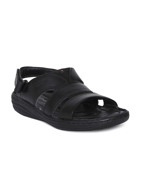 Red Chief Men Black Genuine Leather Sandals  available at myntra for Rs.2085